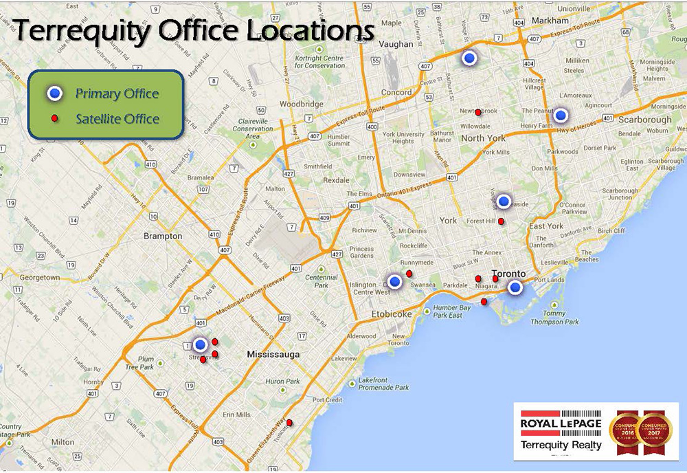 Map of Terrequity Office Locations